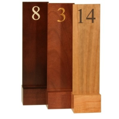 table numbers banqueting- promotional gifts