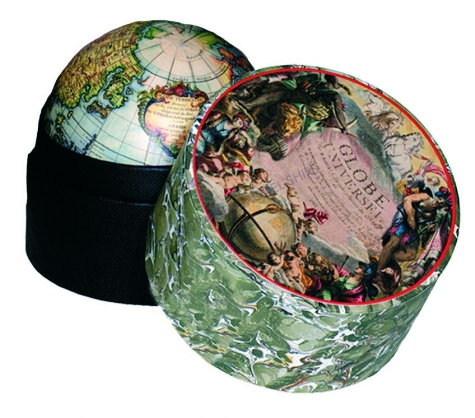 traveler's world globe in box nautical decor- promotional gifts